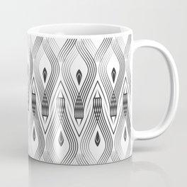 Art Deco 56 . black and gray spiral . Coffee Mug