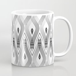 Art Deco 56 . black and gray spiral . Coffee Mug