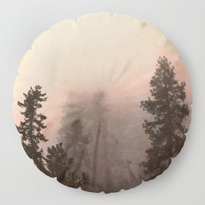 Deep in Thought - Forest Nature Photography Floor Pillow