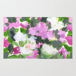 abstract flower painting Rug