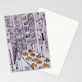 Retro New York City Sketch Stationery Cards
