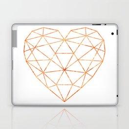 COPPER HEART (WHITE) Laptop & iPad Skin