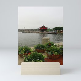 Seven Foot Knoll Light - Baltimore Inner Harbor Mini Art Print