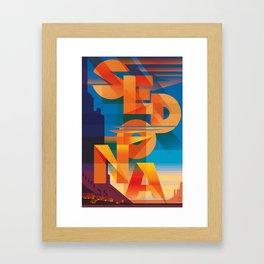 SEDONA SUNSET Framed Art Print