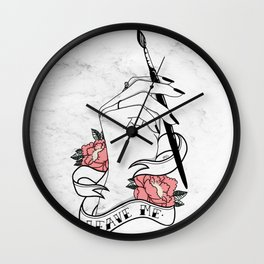 Leave Me Wall Clock
