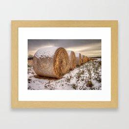 hay bails Framed Art Print