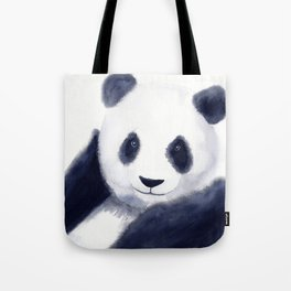 Cute Panda Watercolor Tote Bag
