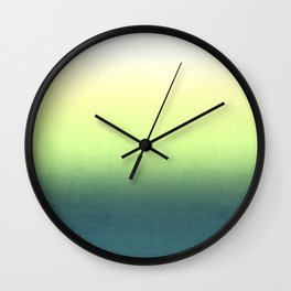 green , yellow , white , Ombre Wall Clock