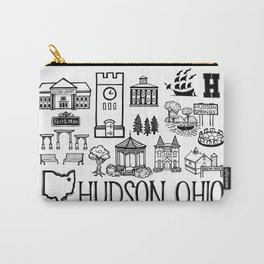 Hudson Ohio Map Carry-All Pouch