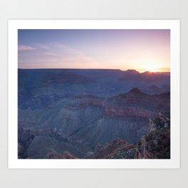 Beautiful Sunrise in the Grand Canyon Art Print