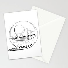 Sydney in a glass globe Stationery Cards