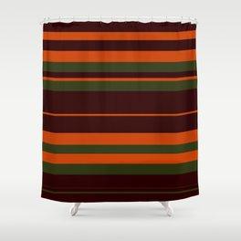 Pattern Bandes Colors Marron/Orange Shower Curtain