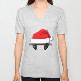 Christmas Weightlifting Xmas Deadlift Gift Idea Unisex V-Neck