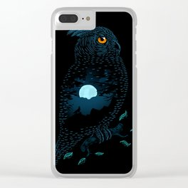 The Owl and the Forest Clear iPhone Case