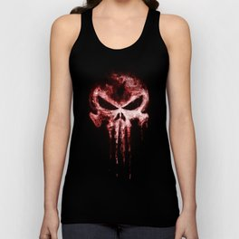 punisher blood symbol Unisex Tank Top