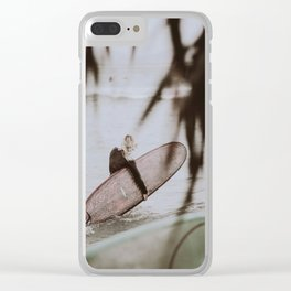 lets surf xii / byron bay, australia Clear iPhone Case