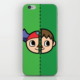 Old & New Animal Crossing Villager Comparison iPhone Skin
