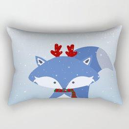 Cute Fox Wintery Holiday Design Rectangular Pillow