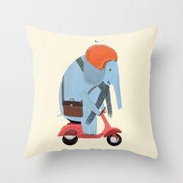 the elephant mobile Throw Pillow