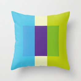 blue-green-duopoly Throw Pillow