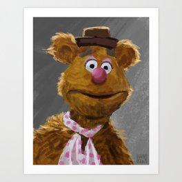 Fozzie Bear Portrait Art Print