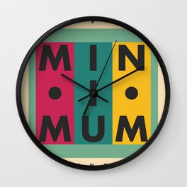 Vintage California // Minimum Wall Clock