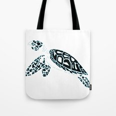 Calligram Sea Turtle Tote Bag