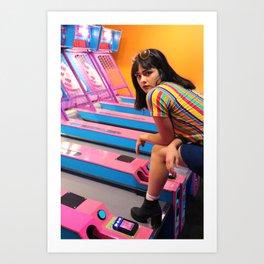 arcade angel Art Print