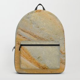 Yellow and blue mountain slope Backpack