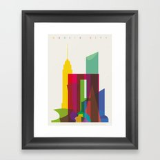 Shapes of Mexico City accurate to scale Framed Art Print