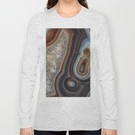 Mocha swirl Agate Long Sleeve T-shirt