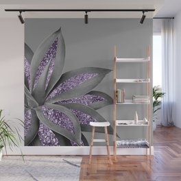 Agave Finesse Glitter Glam #4 #tropical #decor #art #society6 Wall Mural