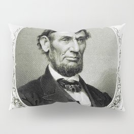 Engraving and anonymous portrait of Abraham Lincoln Pillow Sham