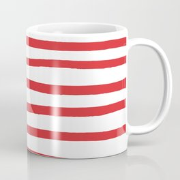 Red hand drawn stripes Coffee Mug