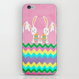 Easter Chevron Pattern iPhone Skin
