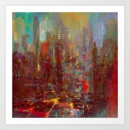 Abstract city Kunstdrucke