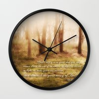 forrest gump Wall Clocks featuring Forrest by Terri Ellis