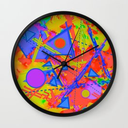 Melding Shapes And Lines Wall Clock