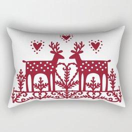 Scandinavian Reindeer Papercut Rectangular Pillow