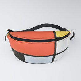 12,000pixel-500dpi - Composition With Red, Yellow, Blue, And Black - Piet Mondrian Fanny Pack