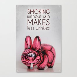 Smoking without skin Canvas Print