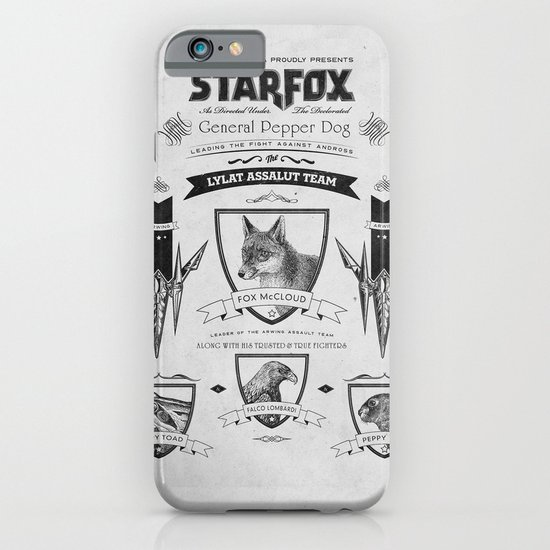 Star Fox Vintage Poster Geek Line Artly iPhone & iPod Case