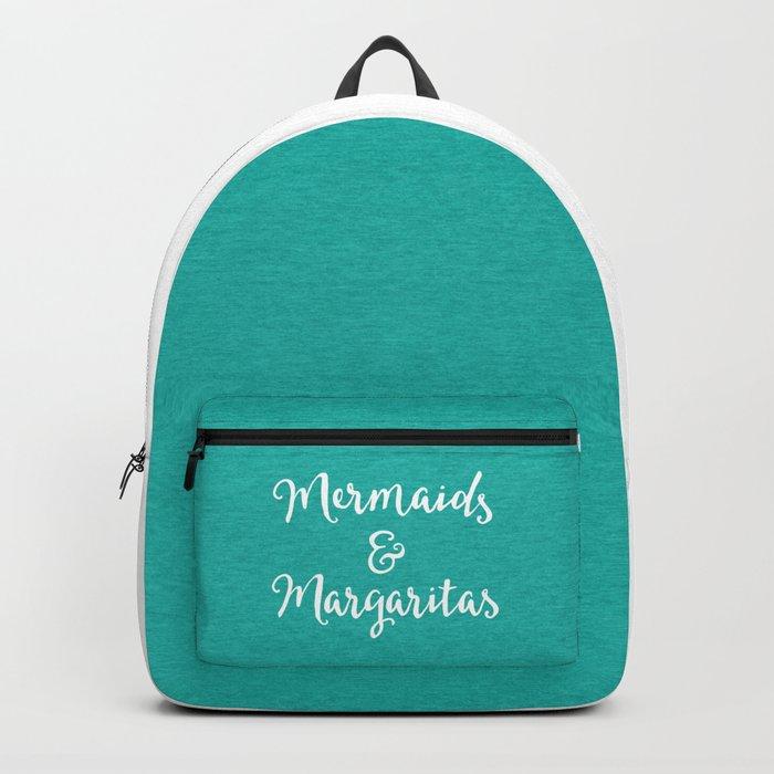 Mermaids & Margaritas Funny Quote Backpack