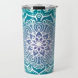 Baesic Turquoise Tranquil Mandala Travel Mug