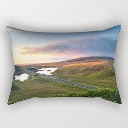 Vanishing Lakes,Ireland,Northern Ireland,Ballycastle Rectangular Pillow