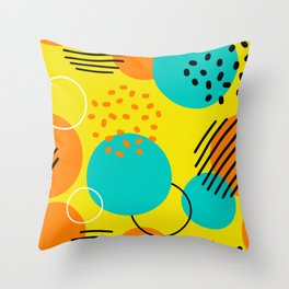Yellow Shapes Throw Pillow