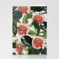 Stationery Cards featuring Figs & Leaves #society6 #decor #buyart by 83 Oranges™