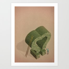 The Love gardener Art Print