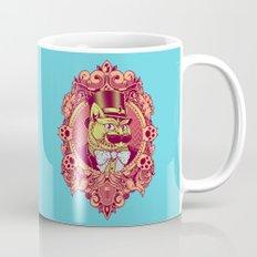 Hipster Mustache Cat Mug