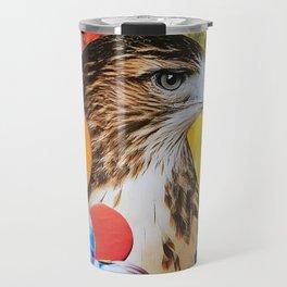 Psychedelic Hawk Travel Mug